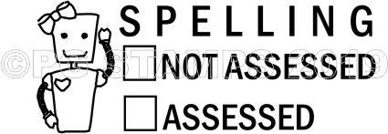 ROBOT 15 - Self inking spelling assessed teacher stamp