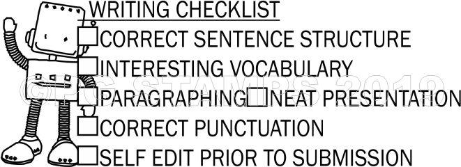 ROBOT 27 - Writing checklist checkbox stamp