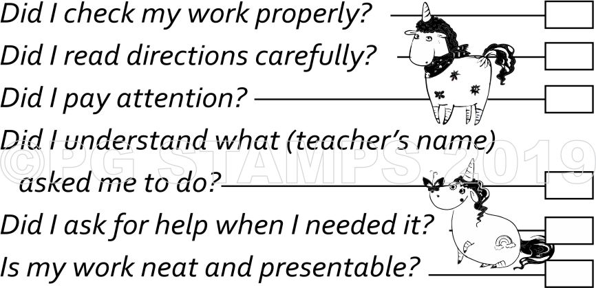 SELF ASSESSMENT 5 - self inking stamp