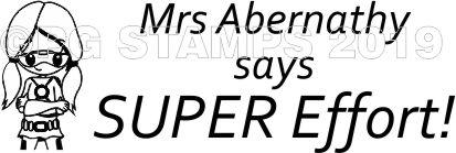 SUPER HERO 2 - Customised motivational teacher stamp