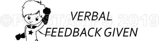 SUPER HERO 28 - Verbal Feedback teacher stamp