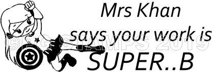SUPER HERO 5 - Customised self inking teacher stamp