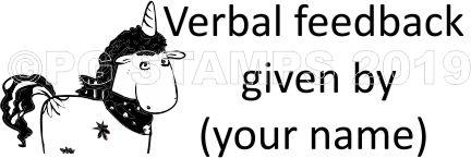 UNICORN 11 - Customised Verbal Feedback teacher stamp