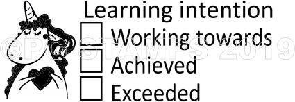 UNICORN 13 - Learning Intention teacher stamp