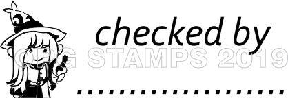 WIZARD 12 - Customised self inking teacher stamp.
