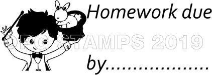 WIZARD 30 - Homework due by teacher stamp