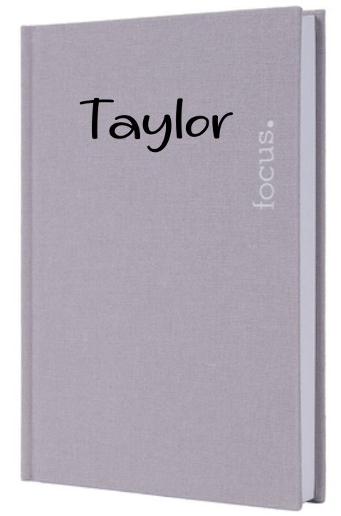 PERSONALISED GREY LINEN JOURNAL