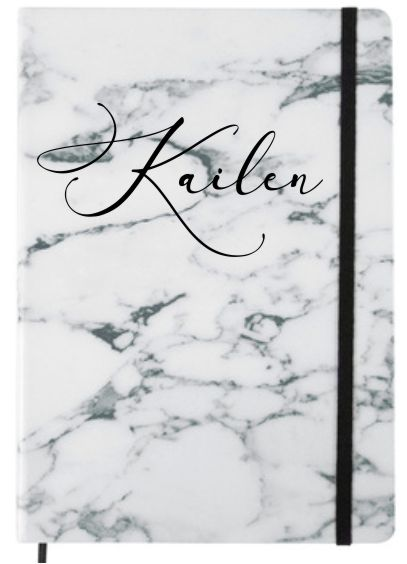 PERSONALISED MARBLE DESIGN JOURNAL