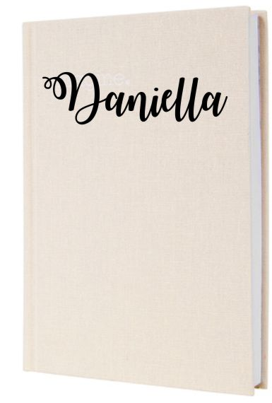 PERSONALISED PINK LINEN JOURNAL