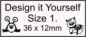 DESIGN IT YOURSELF 1- Fully Customised Stamp