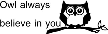 OWL 28 - Motivational belief stamp - Choice of 2 images.