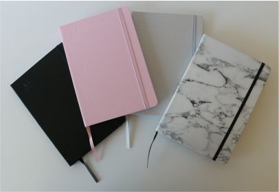 JOURNAL with elastic cover holder - PERSONALISED with your name or initials