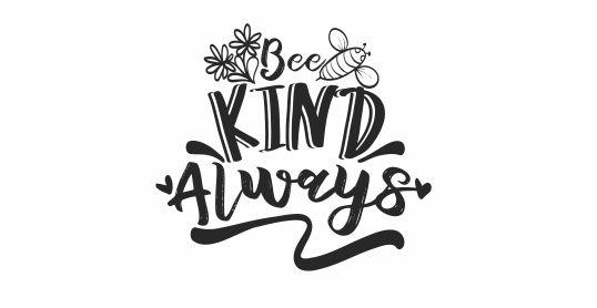 BEE 17 Motivational Bee Kind Always teacher stamp