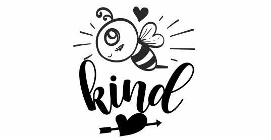 BEE 18 Motivational Bee Kind Pre Inked stamp