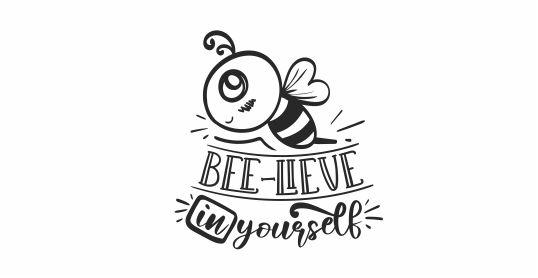 BEE 19 Motivational Bee-Lieve In Yourself teacher stamp