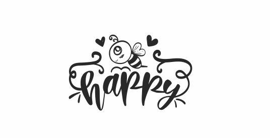 BEE 20 Motivational Bee Happy teacher stamp