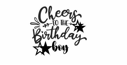 BIRTHDAY 2 - Cheers to the Birthday Boy teacher stamp
