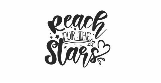 NT42 - Reach for the Stars Motivational Teacher Stamp