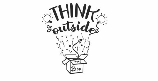 NT43 -Think Outside the Box Motivational Teacher Stamp