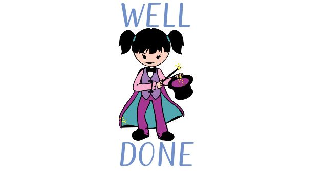 DIGITAL TEACHER STAMP 9 Non Personalised Wizard Well Done