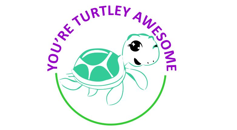 DIGITAL TEACHER STAMP 68 - Non Personalised - Turtley Awesome