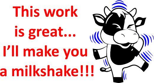 DIGITAL TEACHER STAMP 71 -Non Personalised -  Milkshake