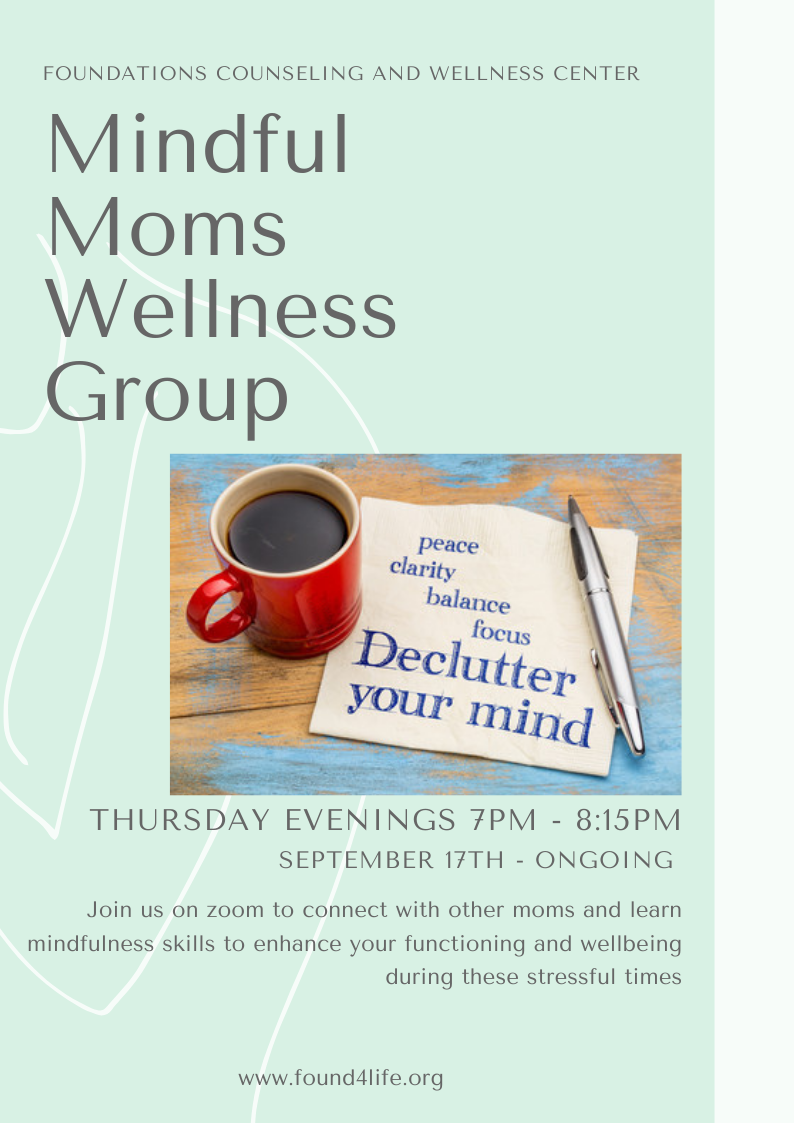 Mindful Moms Wellness Group - 6 group session package @ $50
