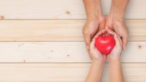 hands holding hands holding a heart