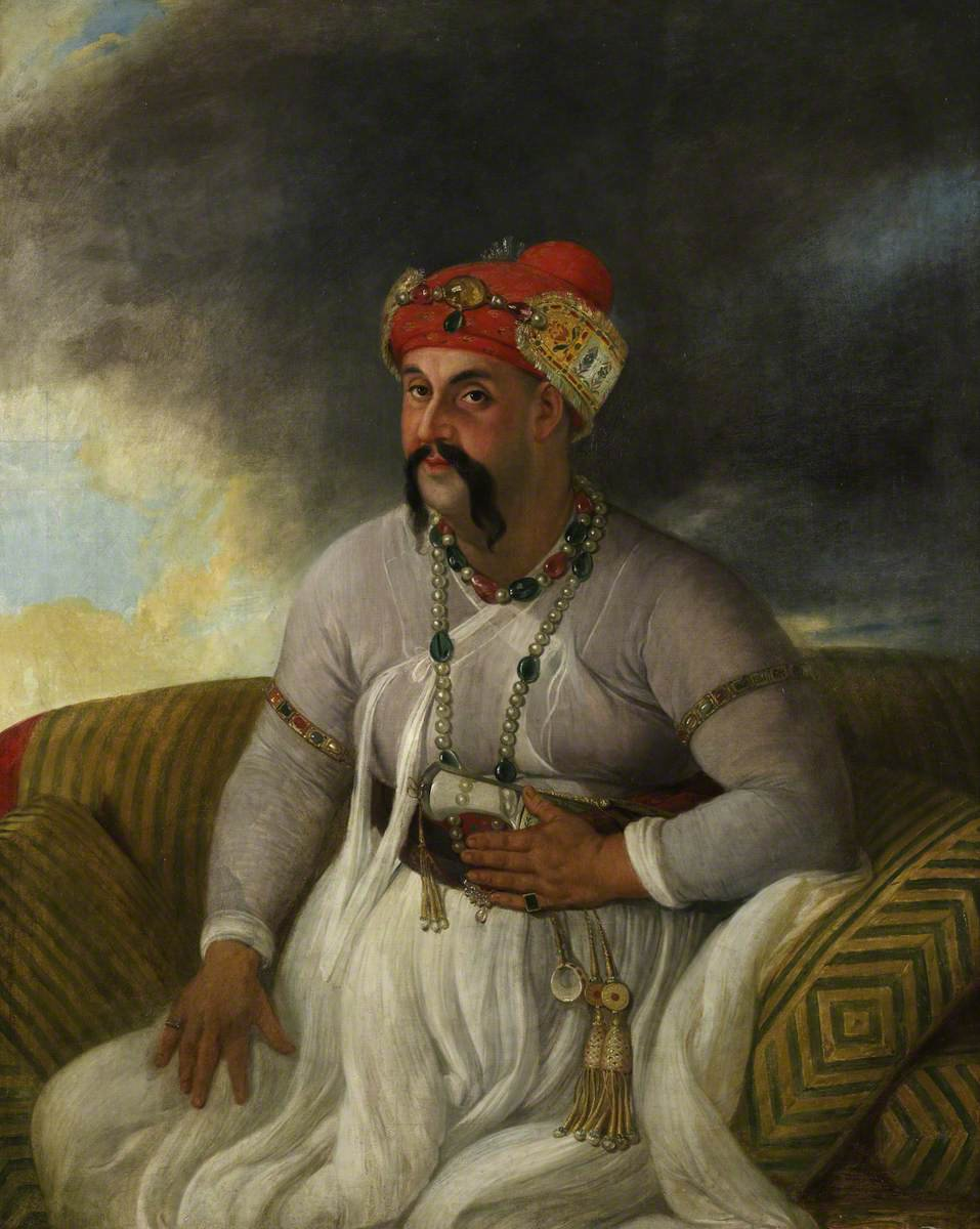 Portrait of Nawab Asaf-ud-Daulah (1775–1797) by Johann Zoffany (British Library) (source httpstwitter.comworldoflucknow)