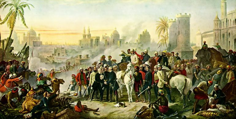 Portrait of Siege of Lucknow by Thomas Barker, 1914 (www.thesocialhistorian.com)