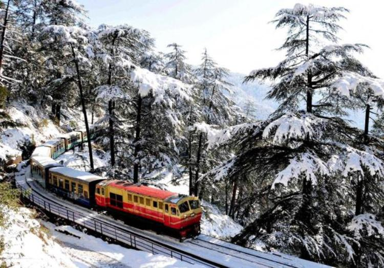 During snow fall in the Winters (PC - http://admis.hp.nic.in/heritage)