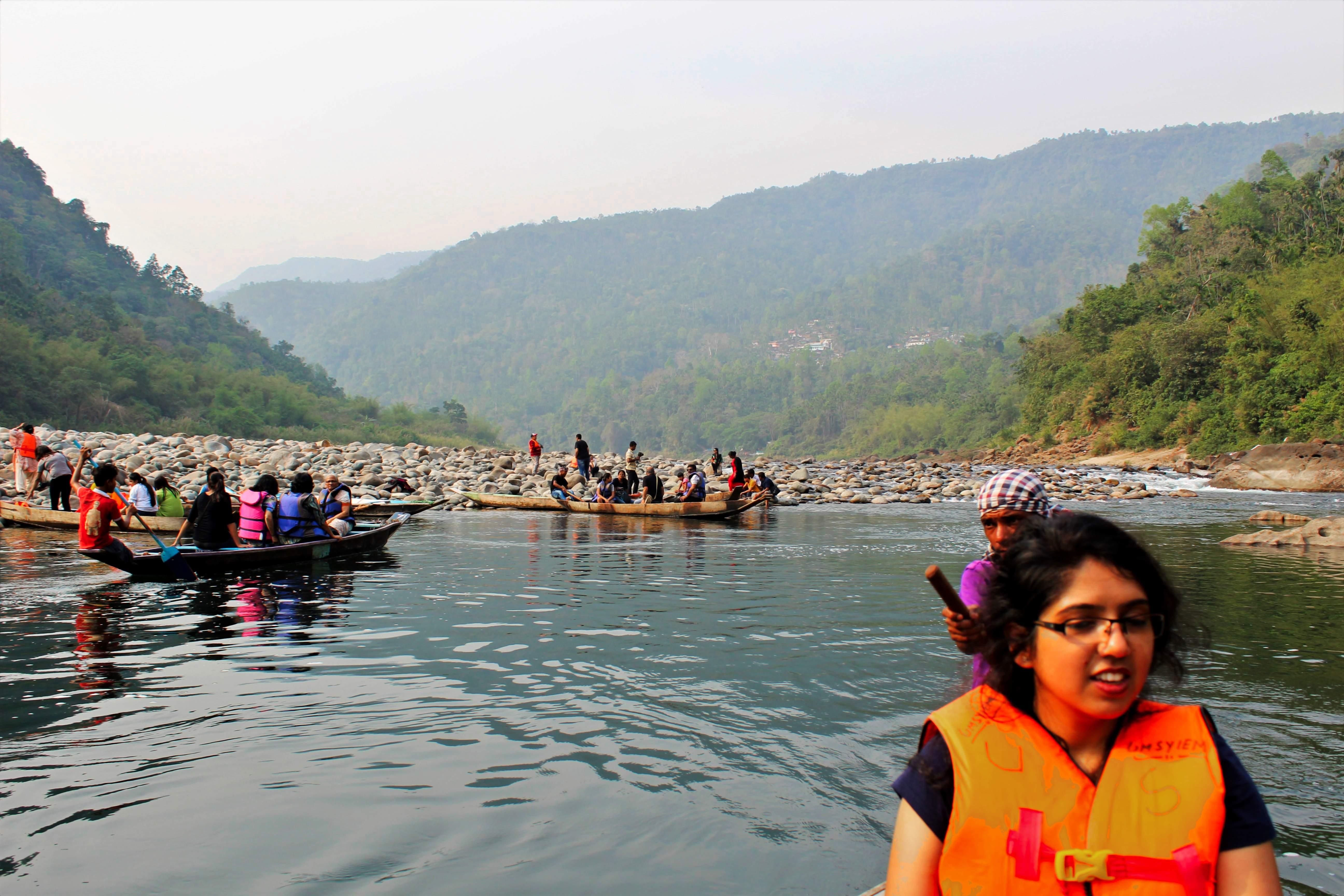 Boating at Umgot River