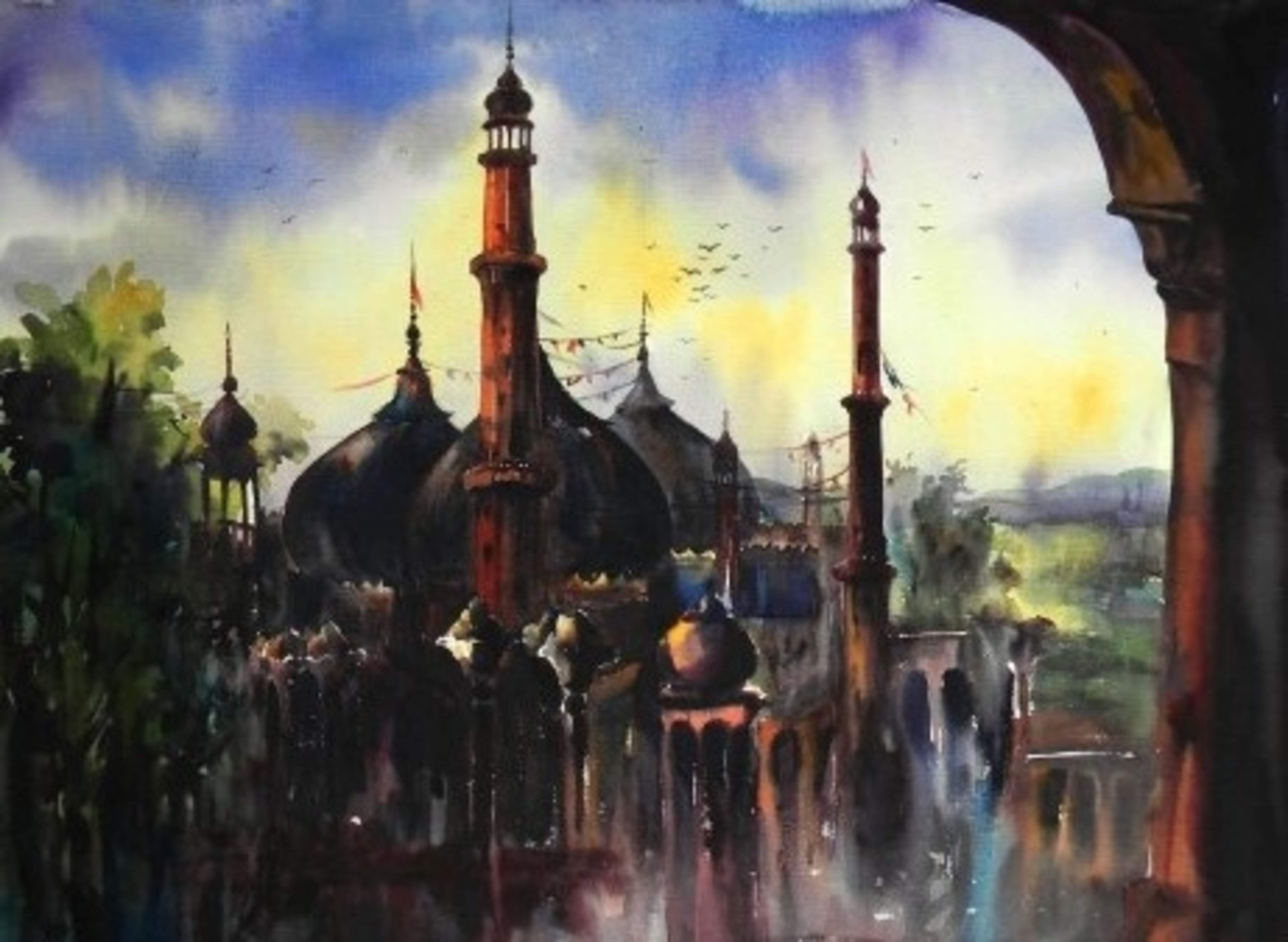 Old Lucknow Painting (source: https://huesnstrokes.com/home/584-old-lucknow-i.html)
