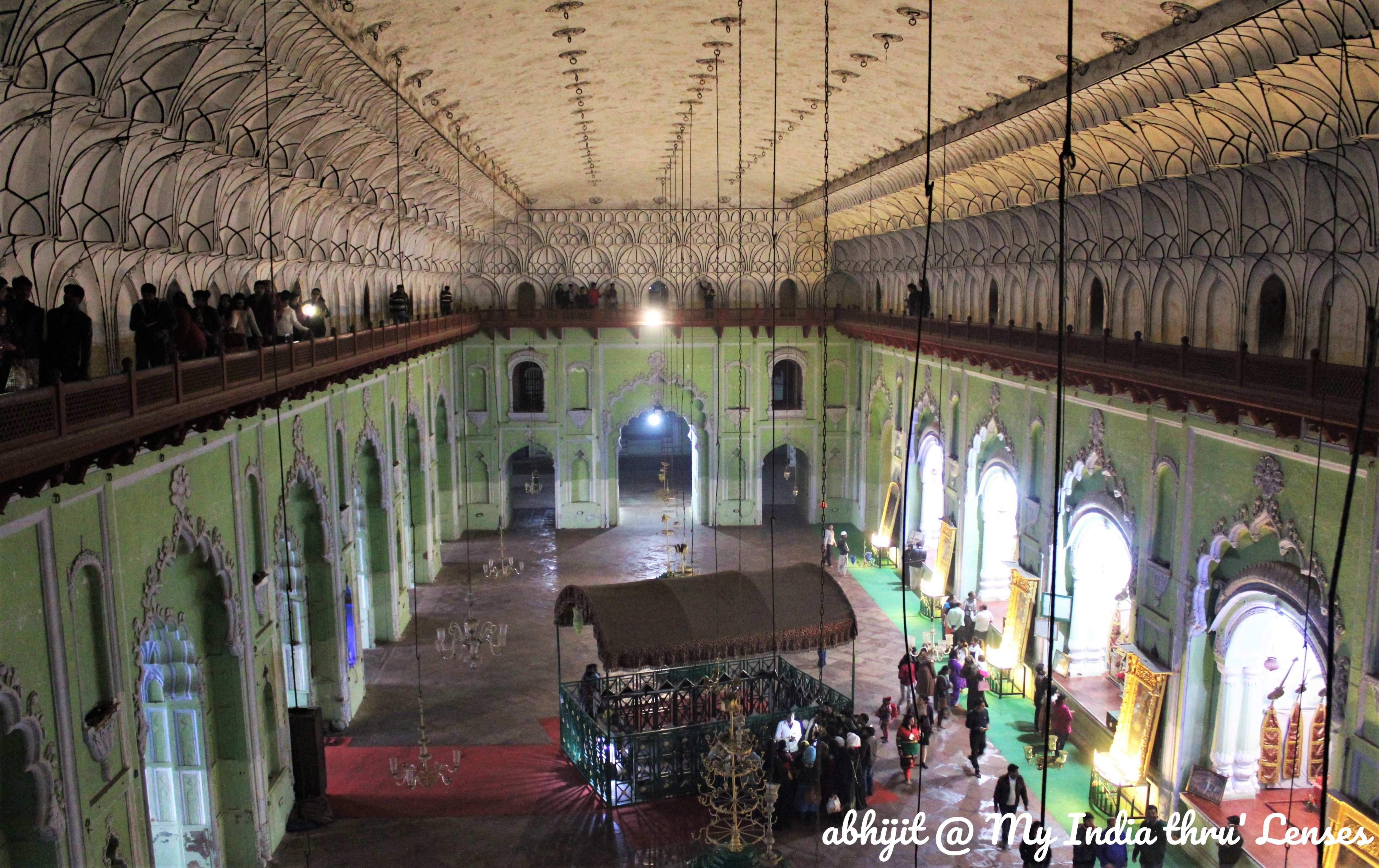 The Central Hall inside  Main Building with the tomb of Asaf-ud-daulah