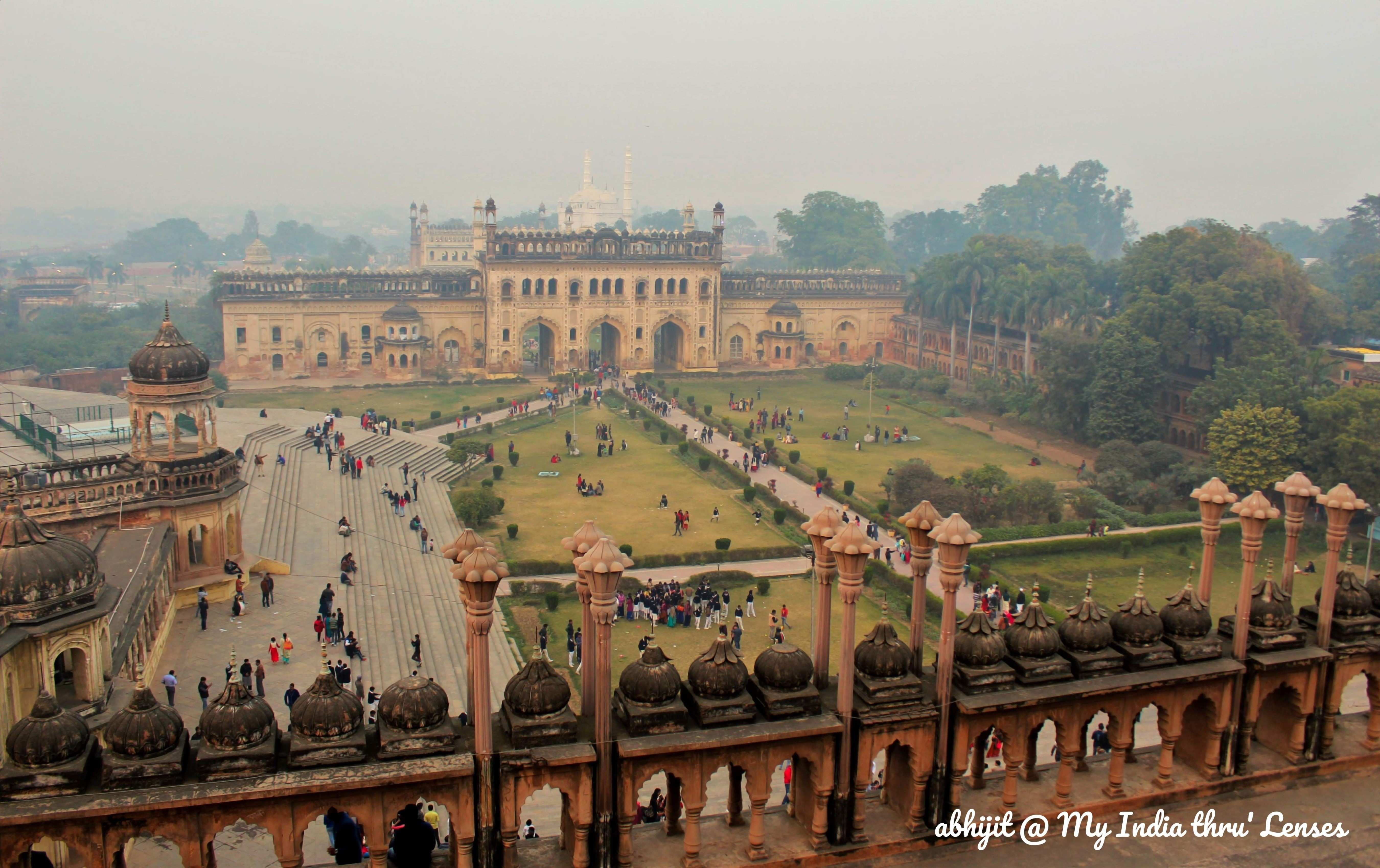 View of the Bara Imambara Complex from the Top of Imambara