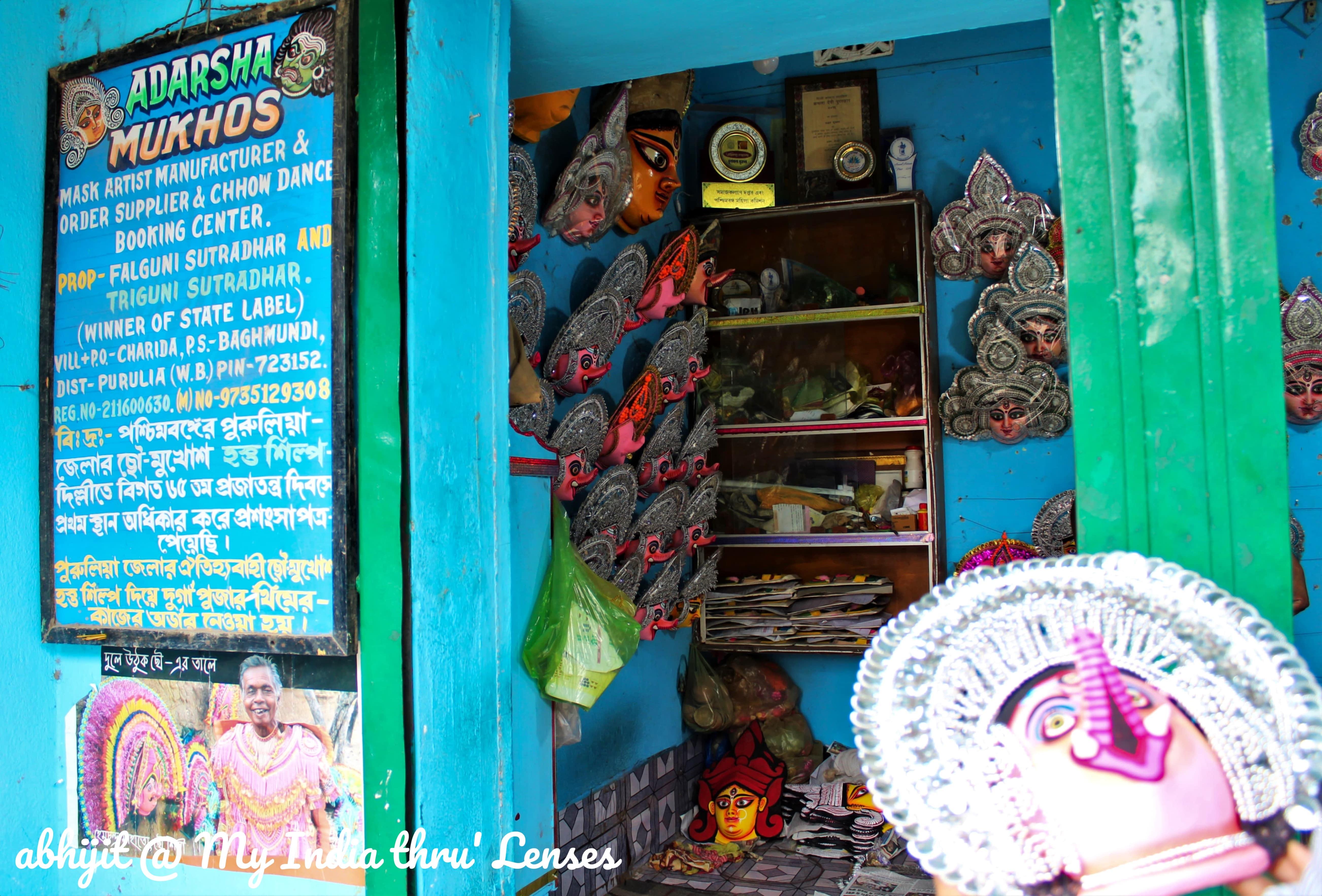 A Chhau Mask Shop