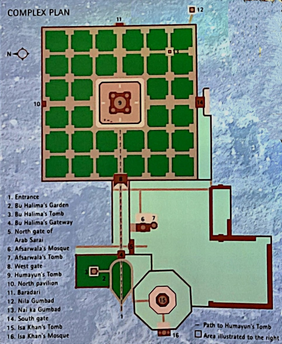 Plan of the Humayun's Tomb Complex (PC - Great Monuments of India)