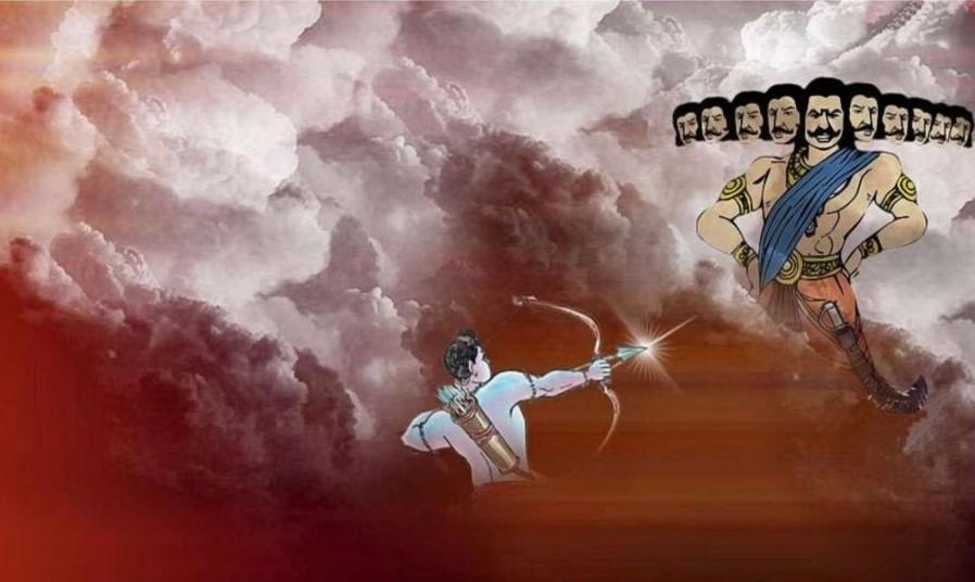 Dussehra - Rama slaying Demon King Ravana
