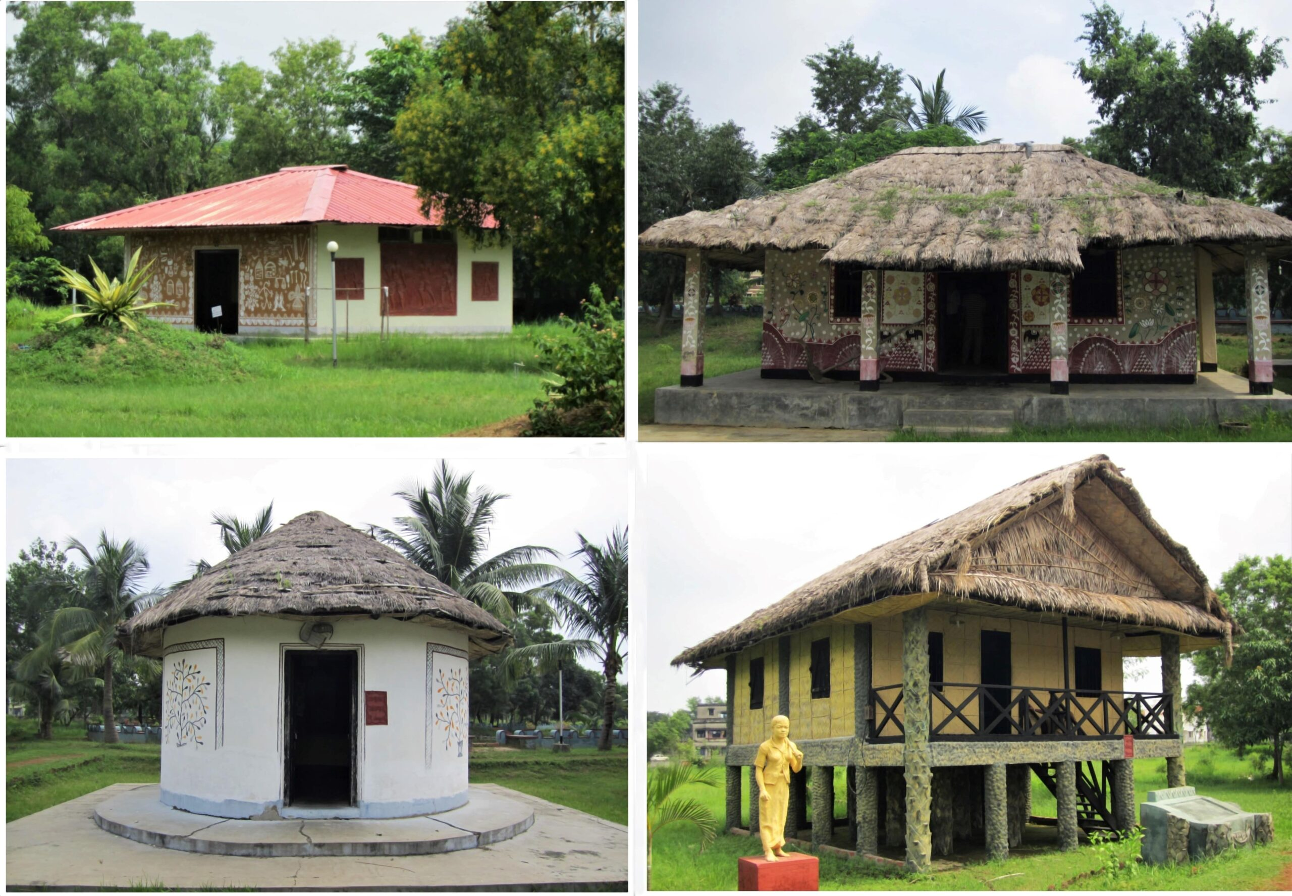 Various Houses inside the Shilpagram Complex