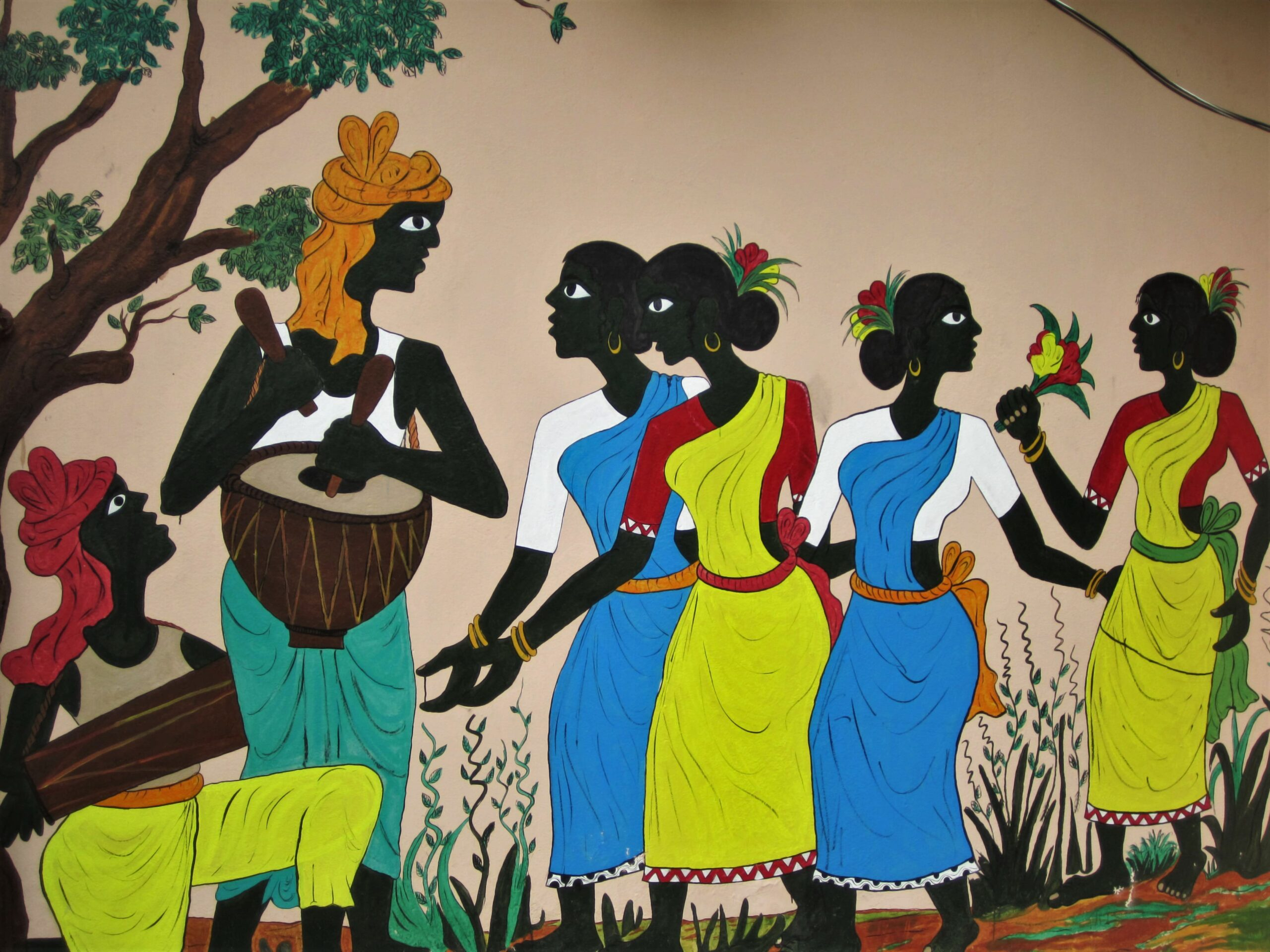A Painting inside one of the Houses of the Shilpagram Complex