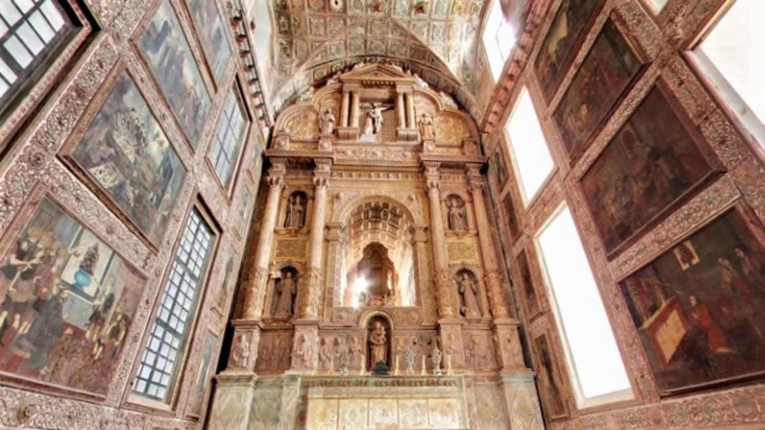 Church of St. Francis of Assisi: Interior view   PC - Incredible India