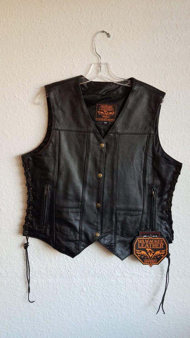 Black Vest with tassels
