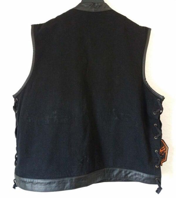 Black Denim Vest Tag with Gun Jacket Pocket tagBlack Denim Vest Tag with Gun Jacket Pocket tag