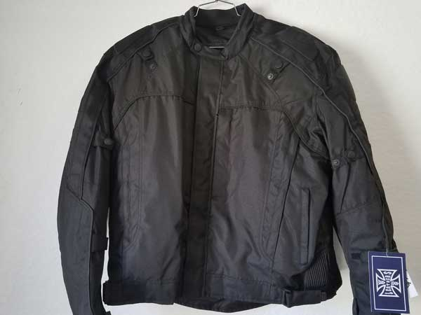 Black Nylon Vented Jacket with Body Armor