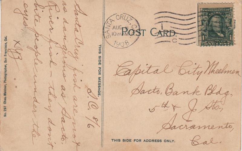 Postcard withcursive writing