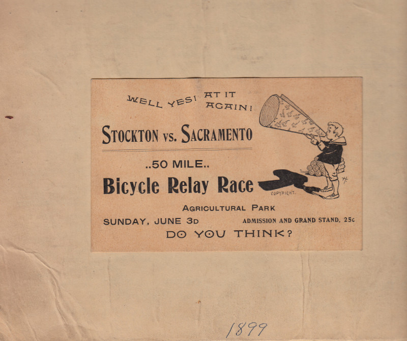 Bicycle relay race signage