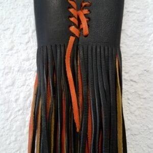 Hanadlebar Fringe Black and Orange