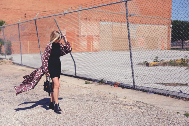 missguided kimono and modern vice booties