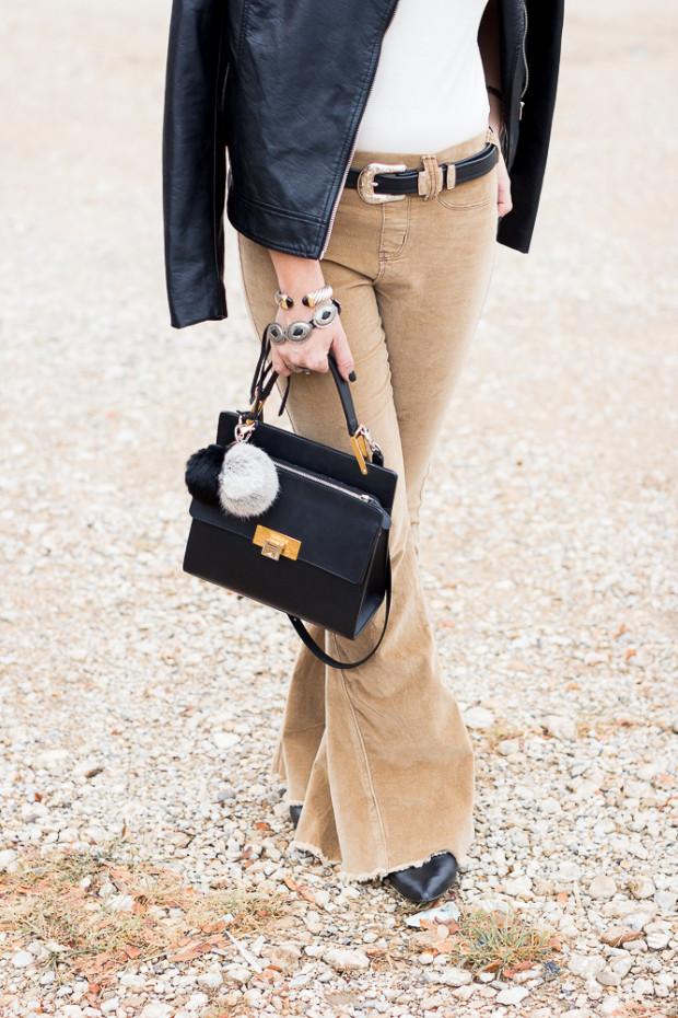 balenciaga bag and fluffy keychains