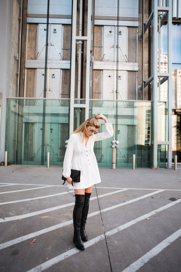 White Free People Dress and knee highs
